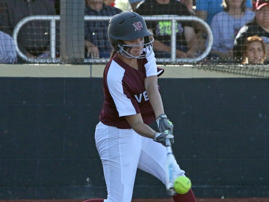 Vernon's Audrey Graf had a breakout senior season season, hitting four home runs and driving in 37 runs.