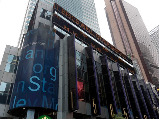 The headquarters of Morgan Stanley, near Times Square