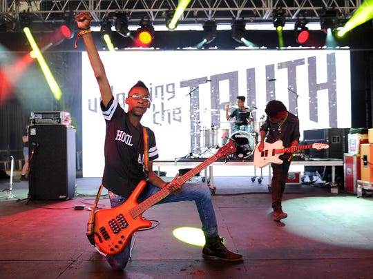 The band Unlocking the Truth at Bonnaroo Music and Arts Festival on Thursday  June 11, 2015.