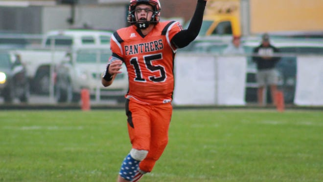 Stockbridge junior Mason Gee-Montgomery has thrown a state single-season record 49 TD passes this fall.