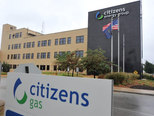 Citizens Energy Group logo on the building at 2020