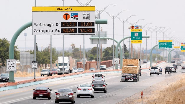 Toll lanes were added to the César Chávez Border Highway in 2014.
