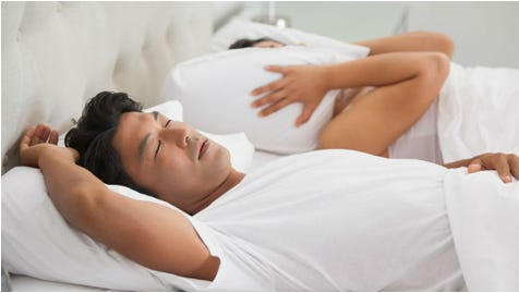 Snoring is a breathing noise that occurs during sleep.