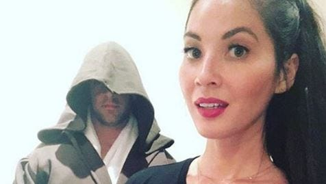"""Aaron Rodgers and Olivia Munn look ready for """"Star Wars."""""""