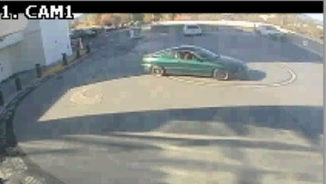 Redding police are looking for two people reported to be in this car at Mercy Medical Center after a homicide on Magnolia Avenue in early December.