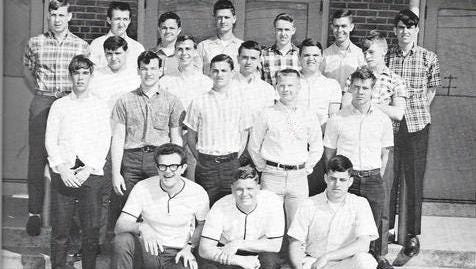 Greenbrier High School's first baseball team, circa 1967.