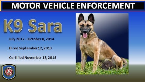 Here is the card designed by the Iowa Department of Transportation in memory of Sara.