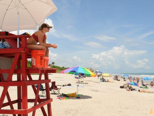 Monday beach scenes