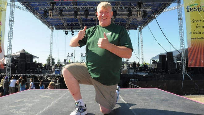 Bob Lenz, Founder and President of Lifest on the main stage of Lifest July 10, 2014.