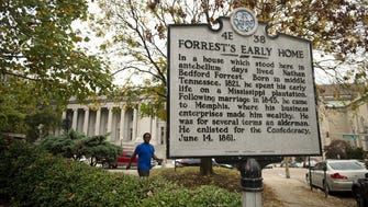 Forrest's early home and slave mart were near corner of Adams and Third (now B.B. King) in downtown Memphis.