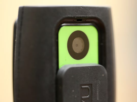 The VieVu brand body camera being tested by Wilmington police.