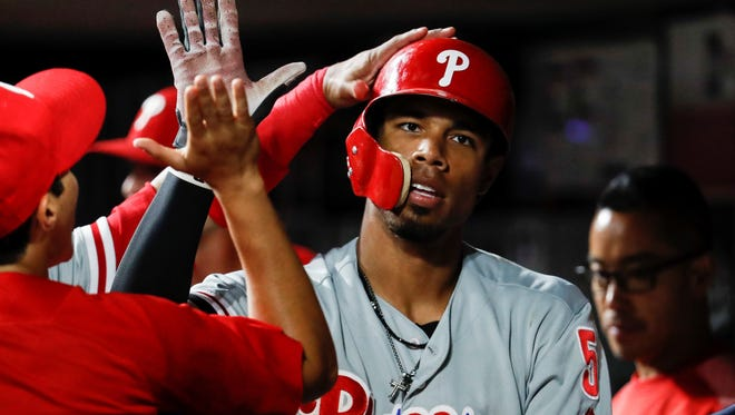 The emergence of Nick Williams has been a big reason the Philadelphia Phillies are leading the National League East Division. AP FILE PHOTO