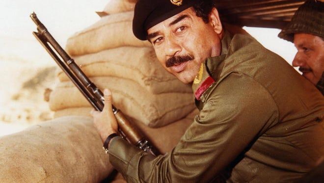 This undated file photograph shows Iraqi president Saddam Hussein.