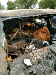 Tami Crate's vehicle after she was involved in a car