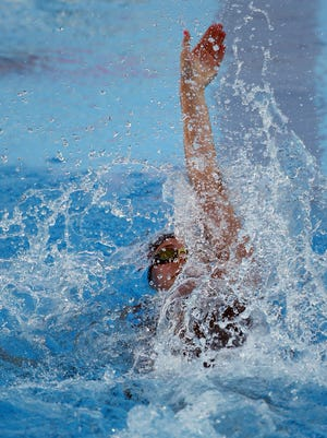 Carmel's Claire Adams shown here competing at the 2015 Phillips 66 National Championships in San Antonio.