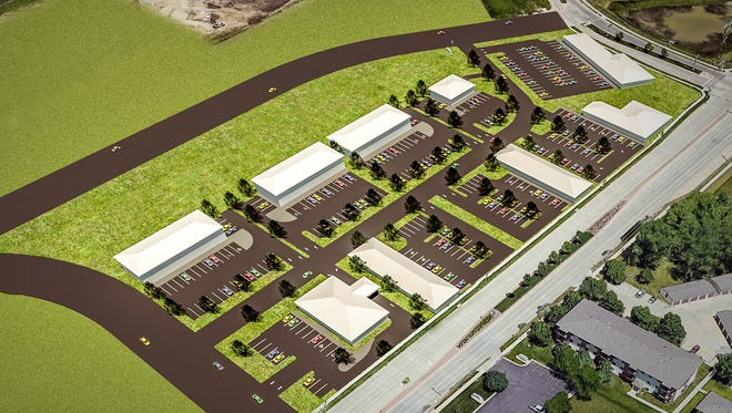 A rendering of the planned Dawley Office Park in Dawley Farm Village in east Sioux Falls.