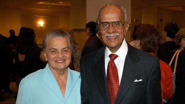 Marian Spencer and her late husband, Donald Spencer, in 2004.