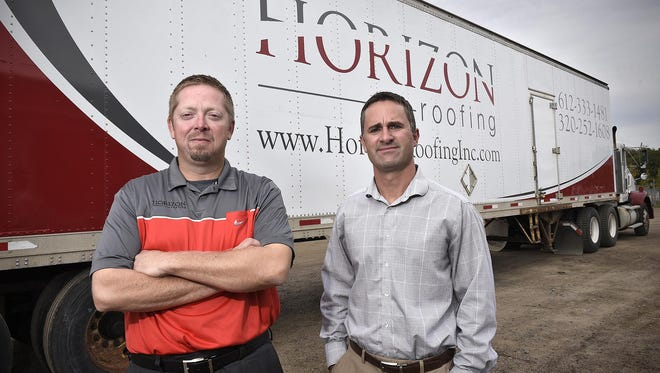 Horizon Roofing Vice President Robert Jodsaas, left, and owner Kurt Scepaniak initially raised concerns about the bidding process for roof maintenance projects in the St. Cloud school district. By Jodsaas' estimate, the district may have overpaid by $4 million on $12 million of work in the past three years because he says there was a lack of competition among bidders. The state auditor recently sent a letter to the district that gave credence to his claim.