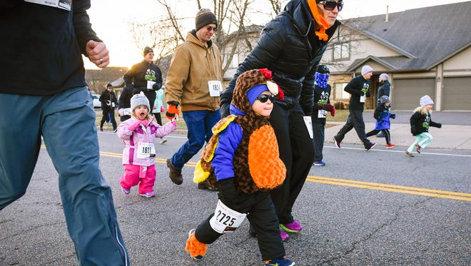 About 4,000 runners took part in the Bernick's Family Fitness Series Wishbone 1K/5K/2 MILE run/walk Thursday, Nov. 23, at the St. Cloud Area Family YMCA.