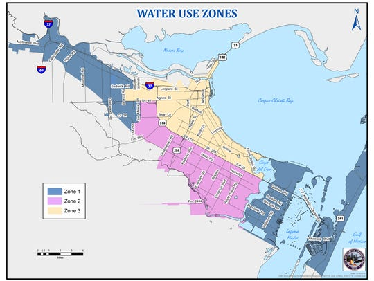 Residents in Zone 1 can drink and use tap water, while