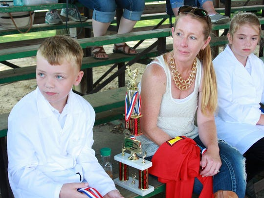 Jacob, 10, and Brenda Waterman spoke about their experience at this year's competition for poultry judging at Calhoun County Fair.