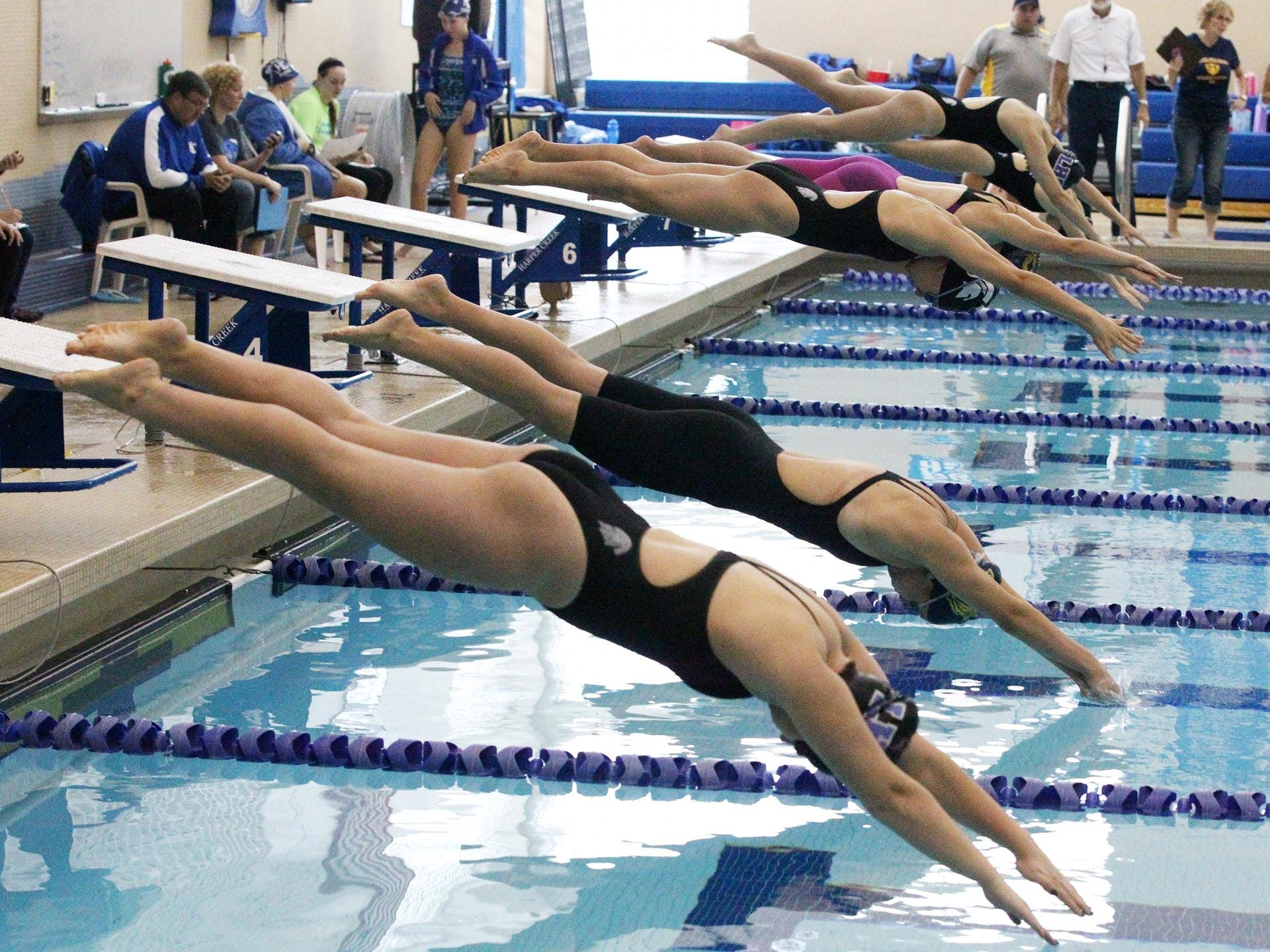 The Girl's All-City Swim meet was held at Harper Creek High School Saturday morning