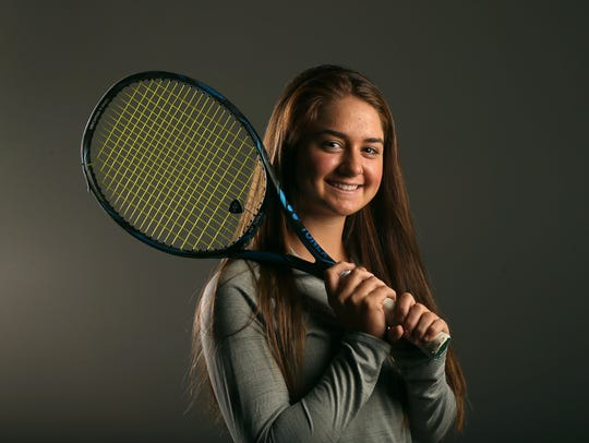 Mercy's Julia Andreach is the AGR girl's tennis Player