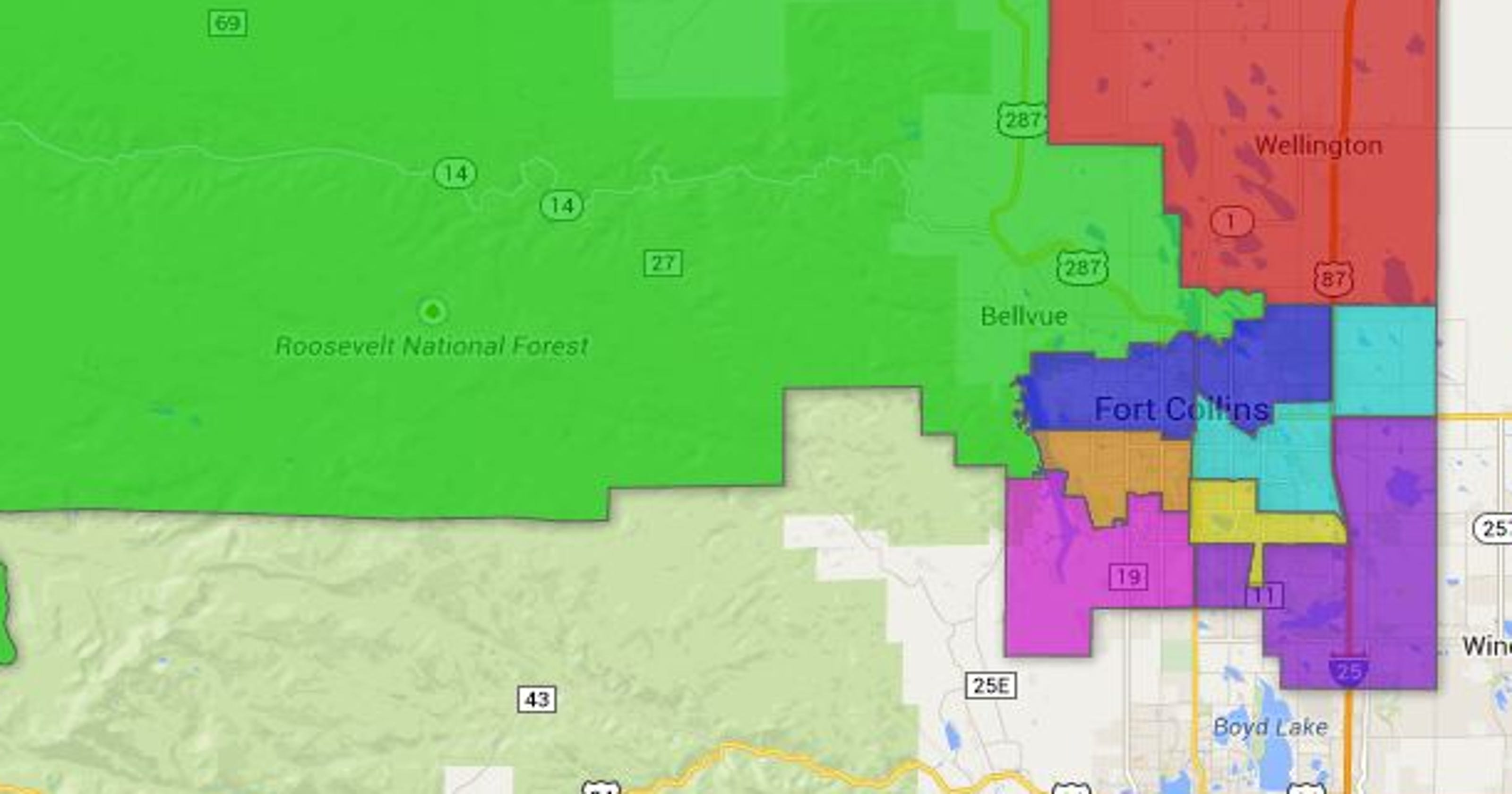 Map: PSD School Boundaries