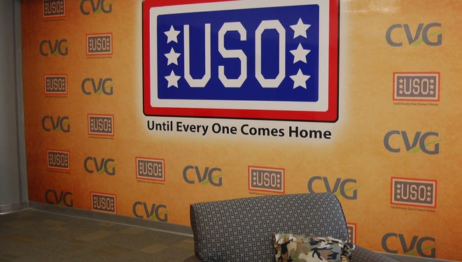 USO Military Lounges in concourses A and B serve active and retired military and their families.