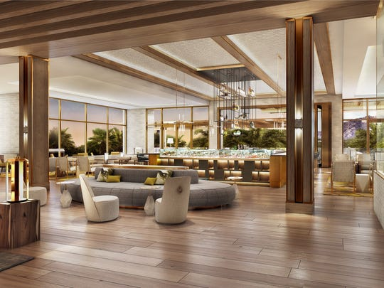 An artist's rendering of the hotel bar at the new Ritz-Carlton