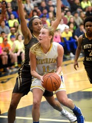 Northern Lebanon forward Megan Brandt provided the Play of the Year in Lebanon County girls basketball, a driving layup at the buzzer in overtime that lifted the Vikings past Milton Hershey in the opening round of districts.