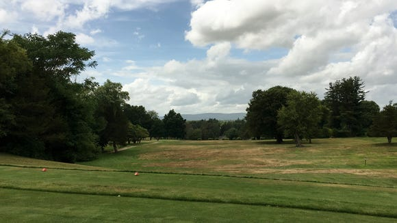 There's a nice view across the Hudson from the fifth tee. Unlike many courses in the hills about the river, Vassar is easily walkable.