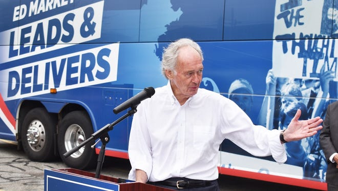 """U.S. Senator Ed Markey made a stop at Fall River's Merrow Manufacturing on Friday on his statewide """"Leads and Delivers Tour."""""""
