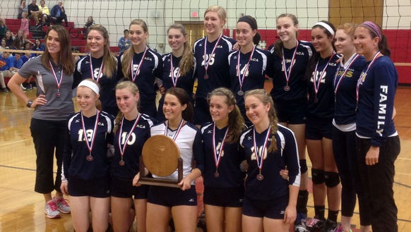 The Asheville Christian Academy volleyball team won