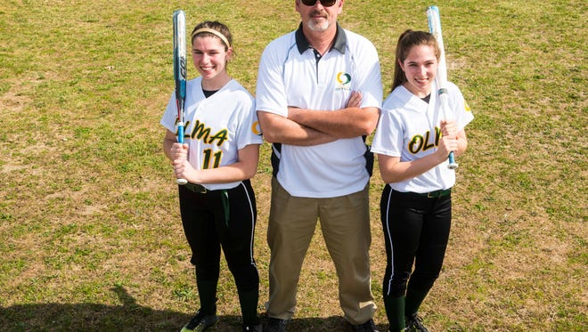 OLMA softball has become a family affair, led by Coach Leo his two daughters Morgan and Madison.