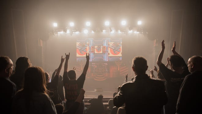 Judas Priest performs a sold-out show at the Riverside Theater in 2018.