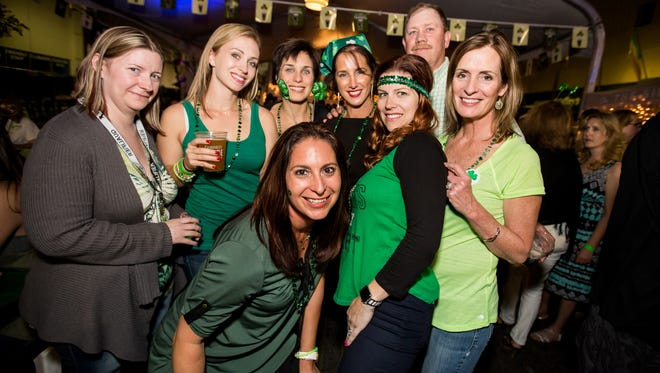 These pals had a great time during Seamus McCaffrey's St. Patrick's Day Bash on Thursday, March 17, 2016.