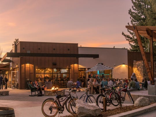 Sunset arrives at Lake Tahoe Aleworx, which offers craft beer, wine, kombucha and fizzy nitro (nitrogen-added) coffee.
