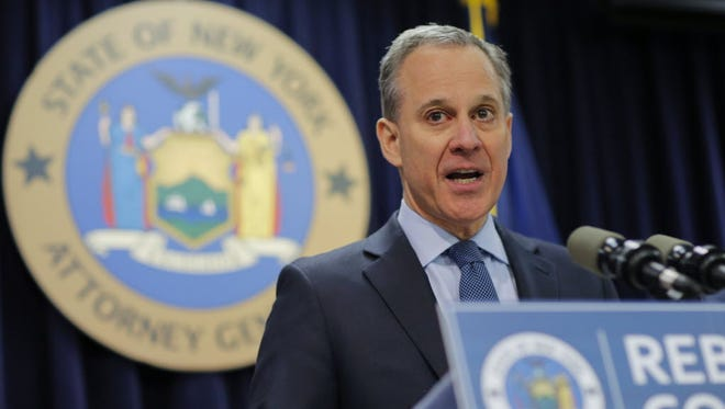 New York Attorney General Eric Schneiderman in New York in February 2016.