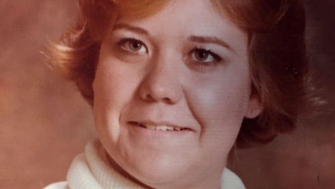 Joseph Patterson's mother Jodie in her twenties.