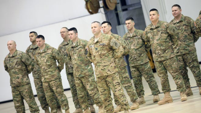 Nicknamed The Kong, these are members of Detachment 1 of Company B, 3rd Battalion, 126th General Support Aviation Battalion of the National Guard. They are expected to deploy for nine months in Bagram, Afghanistan.