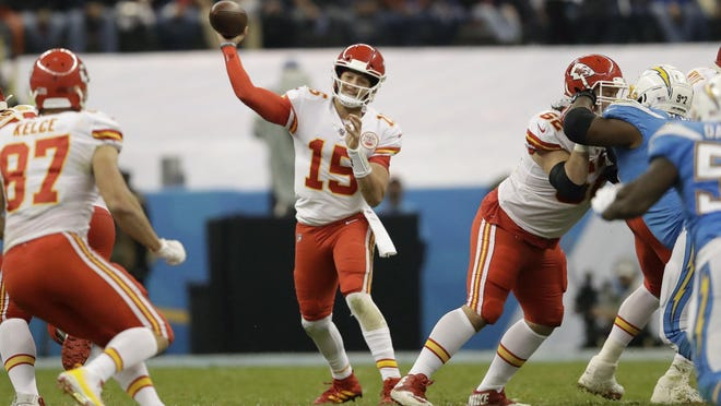 Quarterback Patrick Mahomes and the Kanas City Chiefs look to spoil the Los Angeles Chargers' debut at their new home stadium on Sunday and continue their dominance in the series. The Chiefs have won 10 of the last 11 meetings.