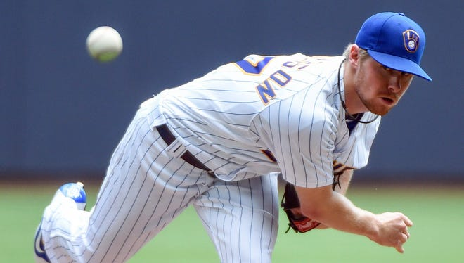 Brewers pitcher Chase Anderson faces the Braves on Friday night.