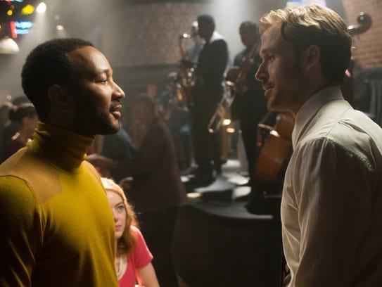 Keith (John Legend) recruits Sebastian (Ryan Gosling)