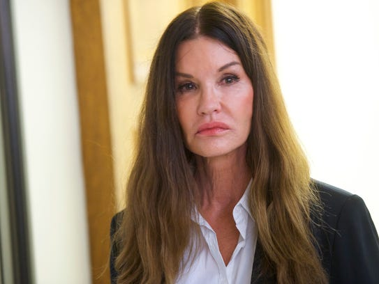 Bill Cosby accuser Janice Dickinson, 63, testified against him at his sexual-assault retrial on April 12, 2018, in Norristown, Pa.