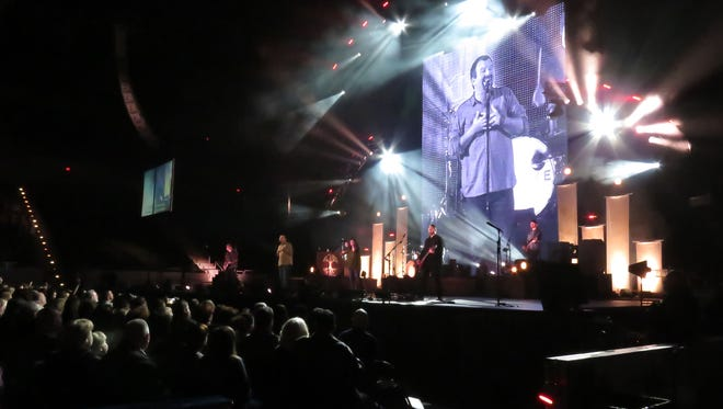 """As part of their """"Thrive Tour"""" the Christian rock group Casting Crowns performed Thursday night at the Pensacola Bay Center."""