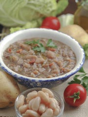 Ribollita is a popular soup in Tuscany.