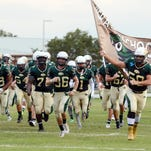The Viera Hawks take the field for Friday's game against Cocoa.