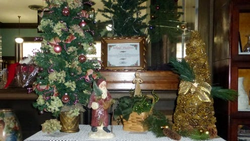 Holiday-themed items are among the items included in the silent auction.