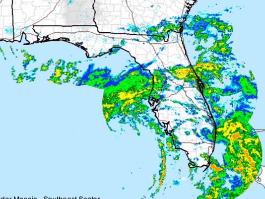 Show The Weather Map.Subtropical Storm Alberto Melbourne Weather Radar Shows The Rain